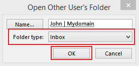 accessing a shared calendar with Outlook step 5