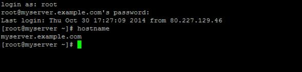 assigning a hostname for CentOS Linux server step 4