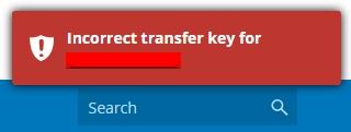 transfer error