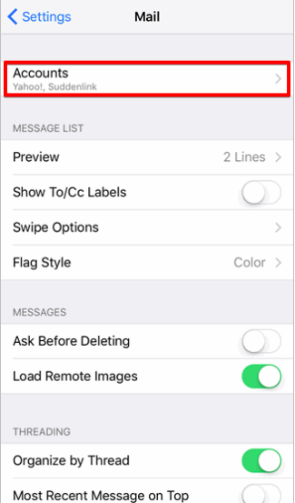 MS Email Exchange setup instructions for iPhone and iPad step 3