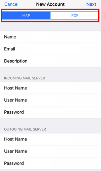 setting up iOS devices to check your email step 7