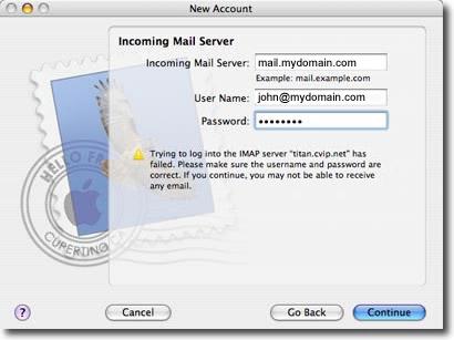 mac os mail setup fields