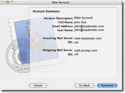 mac os mail setup step 8