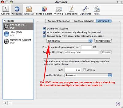 mac os mail setup step 11