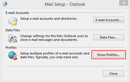 Outlook 2013 setup instructions for MS Email Exchange step 2