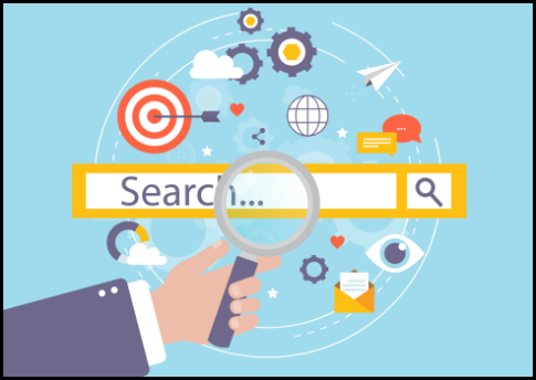 user enters a keyword and google returns with results ranked according to relevance