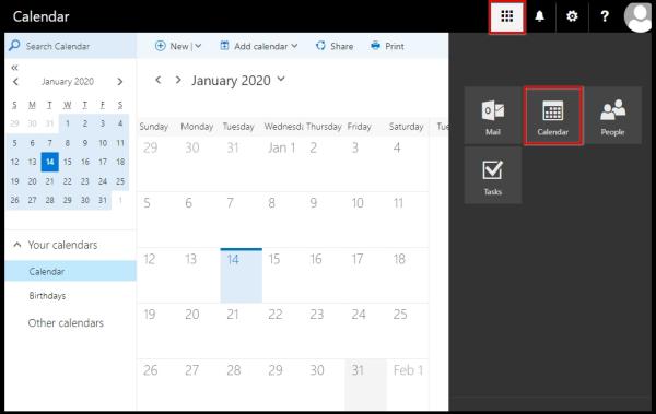 exchange calendar owa icon