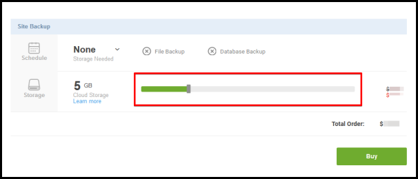 site backup slider bar to activate product
